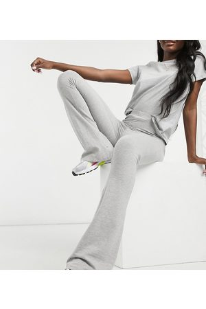 ASOS Dame Slengbukser - ASOS DESIGN Tall kick flare trouser in grey marl