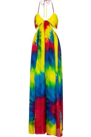 ALEXANDRE VAUTHIER Tie-dye silk jumpsuit