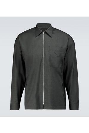 Prada Zipped virgin wool shirt