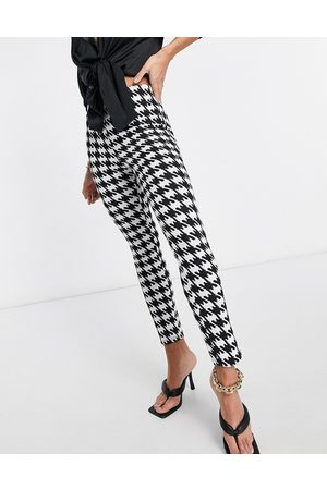 ASOS Jersey jacquard slim suit trouser in dogstooth-Multi
