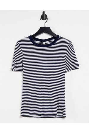 & OTHER STORIES Eco stripe t-shirt in navy and white-Multi