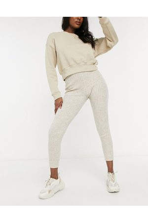 Free People Around The Clock knitted co-ord joggers in -Neutral