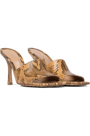 Bottega Veneta Stretch python-effect leather sandals