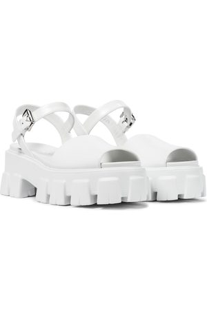 Prada Brushed leather platform sandals