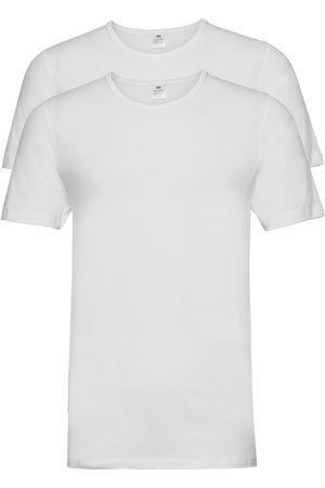 Dovre Herre Kortermede - T-Shirt 2-Pack Gots T-shirts Short-sleeved Hvit