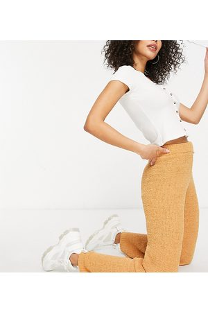 Missguided Co-ord wide leg trouser in toffee-Brown