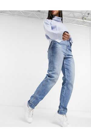 Free People Marion high waisted mom jeans in blue
