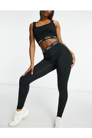 Missguided Co-ord legging with contrast tape in black