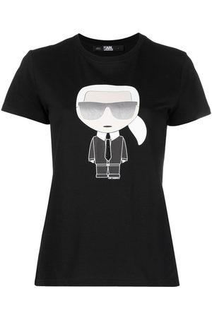 Karl Lagerfeld Dame Kortermede - Print T-shirt