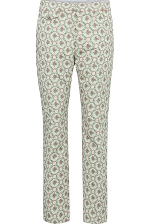 Paco Rabanne Dame Bukser - Floral low-rise straight pants