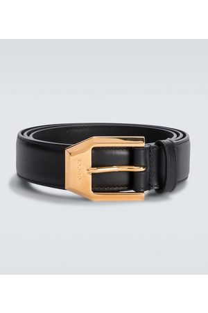 Gucci Herre Belter - Leather belt with squared buckle