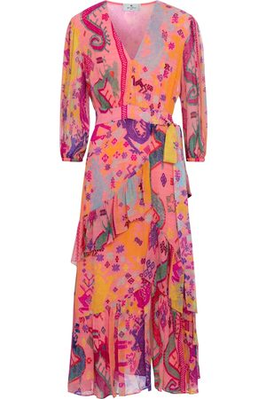 Etro Dame Mønstrede kjoler - Printed silk midi dress