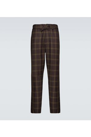 Marni Herre Chinos - Checked wool-blend pants