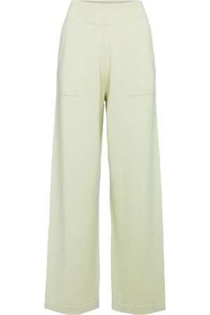 Barrie High-rise wide-leg cashmere pants