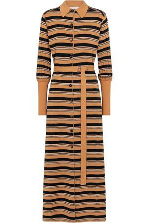Chloé Dame Hverdagskjoler - Striped wool-blend shirt dress