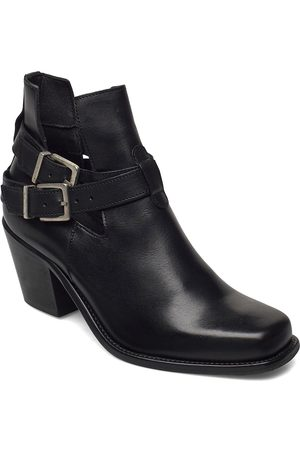 Bianco Biacedar Open Leather Boot Shoes Boots Ankle Boots Ankle Boot - Heel
