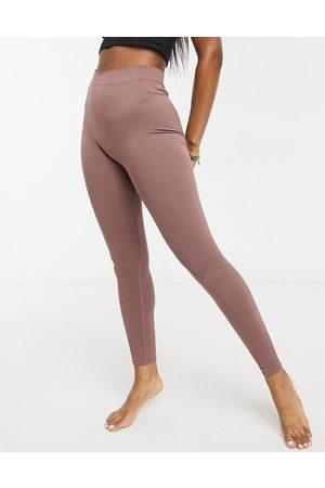 Weekday Celestia yoga seamless leggings in mocha-Brown