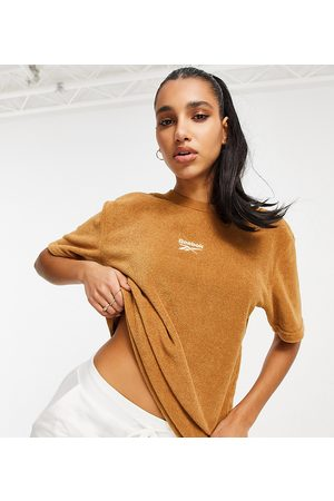 Reebok Classics Toast co-ord t-shirt in tan terry toweling exclusive to ASOS-Brown