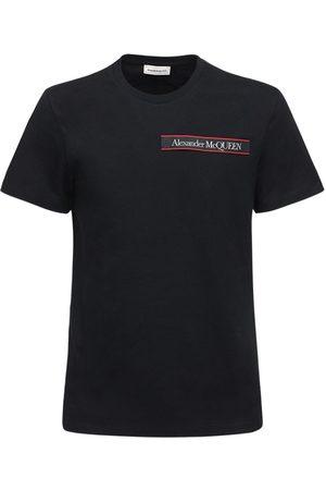 Alexander McQueen Logo Tape Cotton T-shirt