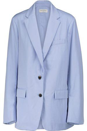 DRIES VAN NOTEN Cotton poplin sleeveless blazer