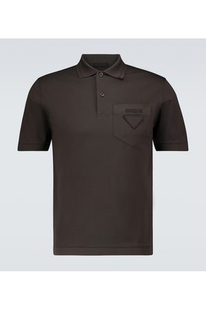 Prada Cotton polo shirt with tonal logo