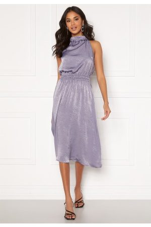 BUBBLEROOM Emalie high neck dress Grey-blue 36