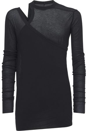 Rick Owens Banana Ziggy L/s Viscose & Silk T-shirt