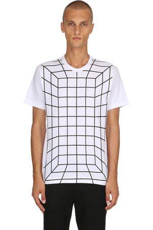 Comme des Garçons Herre Kortermede - Graphic Printed Cotton Jersey T-shirt