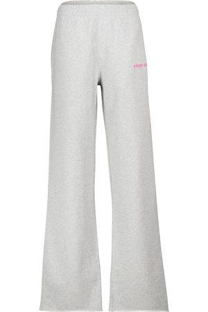 Helmut Lang Flared cotton fleece trackpants