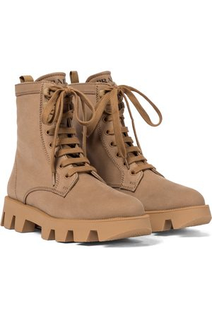 Prada Canvas combat boots