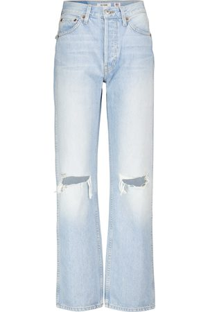RE/DONE Dame High waist - Loose high-rise straight jeans