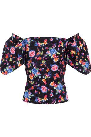 Caroline Constas Eliana floral cotton-blend blouse