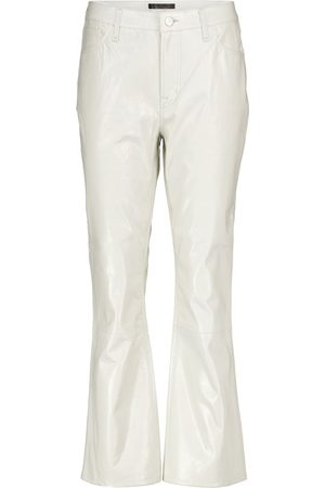 J Brand Dame High waist - Franky high-rise leather bootcut jeans