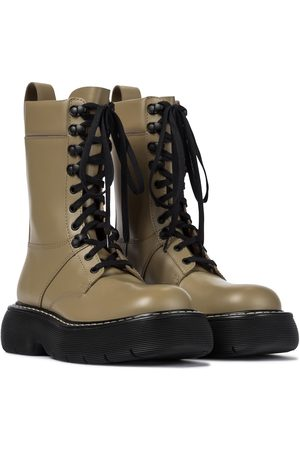 Bottega Veneta Dame Skoletter - The Bounce leather combat boots