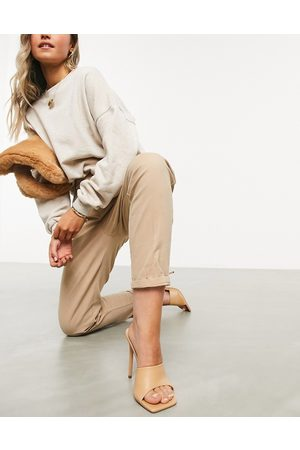ASOS DESIGN Chino trousers in stone