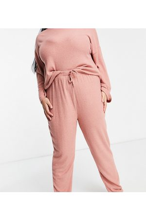New Look New Look Curve ribbed jogger in light pink