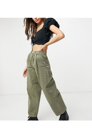 Reclaimed Vintage Inspired the 97' wide mom jean in washed green-Blue