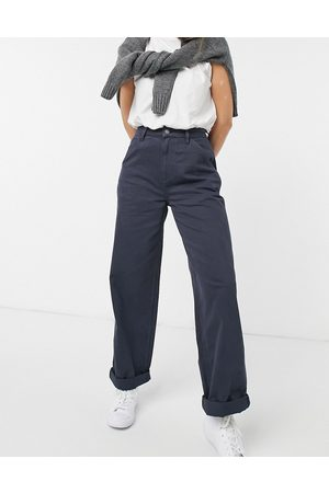 ASOS Dame Chinos - Slouchy chino trouser in navy