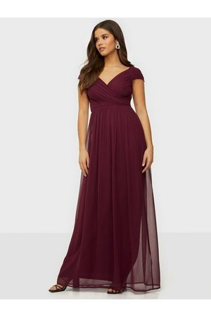 NLY Eve Dame Maxikjoler - Cap Sleeve Maxi Gown Burgundy