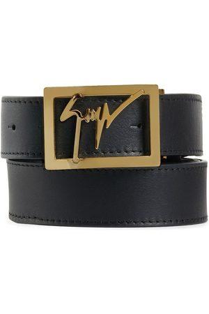 Giuseppe Zanotti Herre Belter - Logo square buckle belt