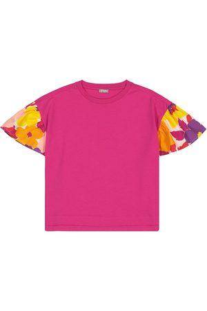 Il gufo Floral cotton T-shirt