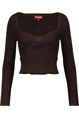 Staud Dame Strikkegensere - Cerro knit top