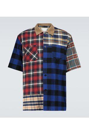 SACAI Plaid Mix short-sleeved shirt