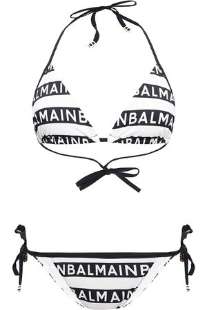 Balmain To-delt badedrakt med logo