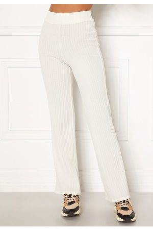 BUBBLEROOM Miley knitted trousers White S