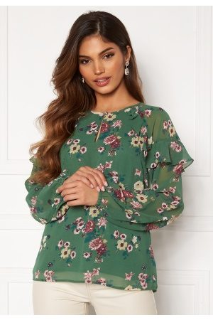 Happy Holly Becky blouse Green / Patterned 36/38