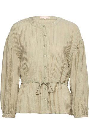 Soft Rebels Dame Bluser - Srpolly Ls Shirt Bluse Langermet Beige