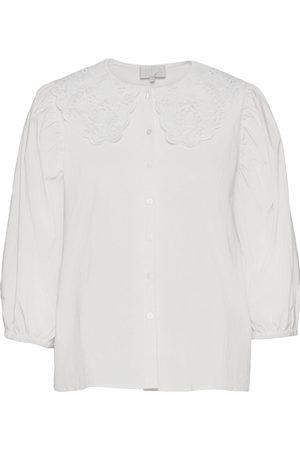 Minus Dame Bluser - Raja Shirt Bluse Langermet