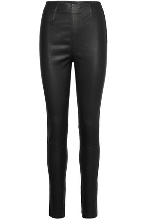Gestuz Dame Leggings - Sashagz Hw Leather Legging Noos Leather Leggings/Bukser