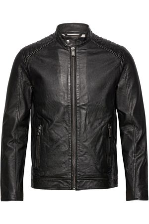 Selected Herre Skinnjakker - Slhiconic Racer Leather Jkt W Noos Skinnjakke Skinnjakke